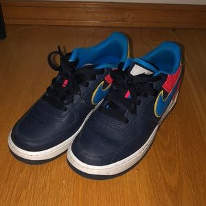 Nike Air Force 1 Navy/Blue/Crimson/Yellow